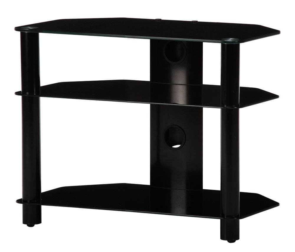 neo 370b tv bord sort alu sort glas max 32. Black Bedroom Furniture Sets. Home Design Ideas