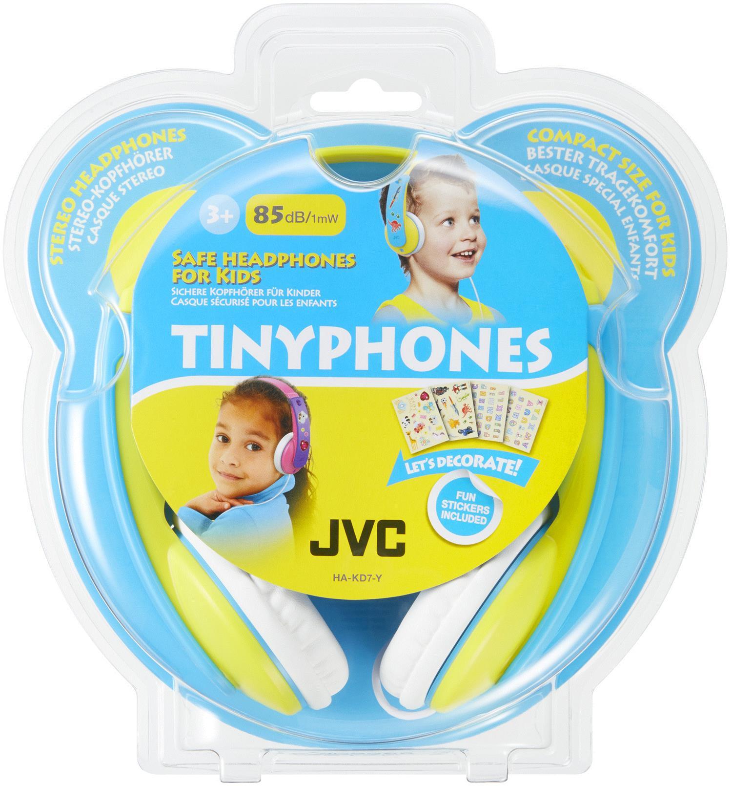 JVC HA-KD7-Y Hovedtelefoner til Børn - Gul