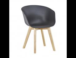 Daisy Spisebordsstol - Sort med lyse ben