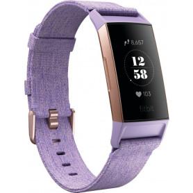Fitbit Charge 3 Armbånd - lavendel vævet/rosaguld - Special Edition