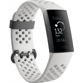 Fitbit Charge 3 Armbånd - hvid/grafit aluminium - Special Edition