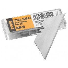 Tolsen Knivblade 61x19mm til hobbykniv - 10Stk - SK5