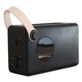 Scansonic PA4600 - FM/DAB+ Radio m. Bluetooth - Sort
