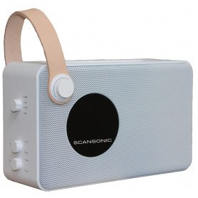 Scansonic PA4600 - FM/DAB+ Radio m. Bluetooth - Hvid
