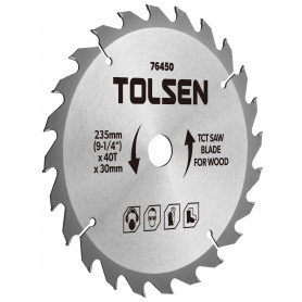 """Tolsen TCT savklingen til træ - 235mm (9-1/4"""") - 40 tænder"""