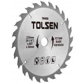 """Tolsen TCT savklingen til træ - 185mm (7-1/4"""") - 40 tænder"""