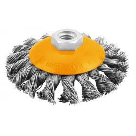 Tolsen Ståltallerken børste til vinkelsliber - rustfjerner - diameter 0.5x14*2x100mm - Indistriel