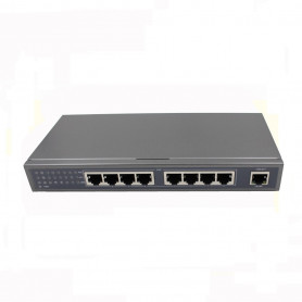 Melix 8-Port PoE Gigabit Switch - Unmannaged - 8 x 10/100/1000 - 1 x Uplink