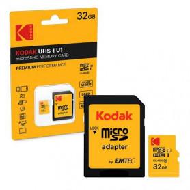 KODAK 32GB MicroSDHC Class 10 Hukommelseskort med SD Adapter