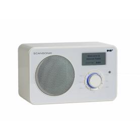 Scansonic IN220BT - FM/DAB+/Bluetooth Internet Radio - Hvid