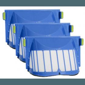 3stk filtre kompatibel med Irobot Roomba aerovac 500- 600- og 700-serien
