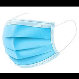 Mundbind Ansigtsmaske 3-lags med elastik