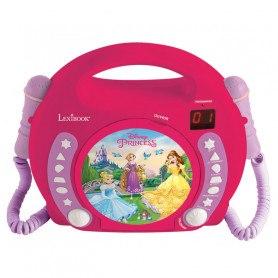Lexibook- CD-Afspiller Med Mikrofoner - Disney Prinsesser
