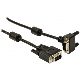 VGA vinklet kabel 90°
